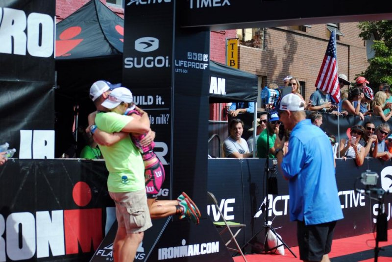 Hugging Dave